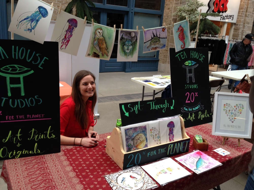 Selling my work at the 2015 Guelph Ecomarket