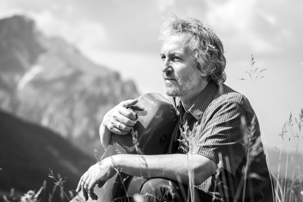"""Mario Brunello, Cellist, Initiator des Projektes """"Dolomiten des Friedens"""", Lusern, Trentino, Italien, 2013"""