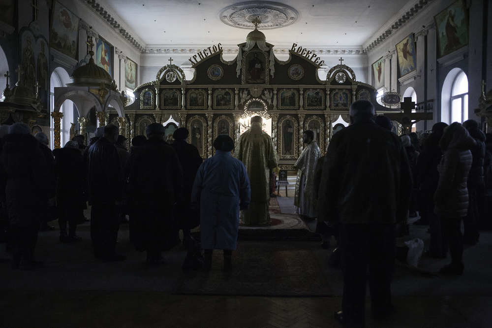 Orthodox community following Kiev Patriarchate, Simferopol, Crimea 2014