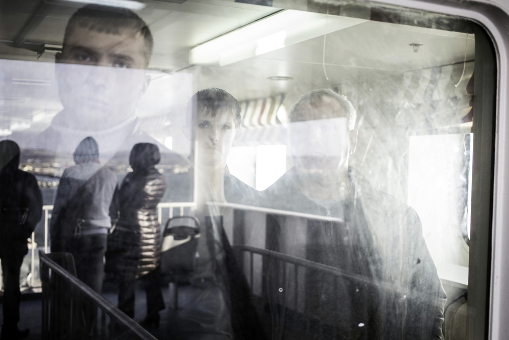 Ferry between Port Kerch and Port Kavkaz, Crimea, 2014