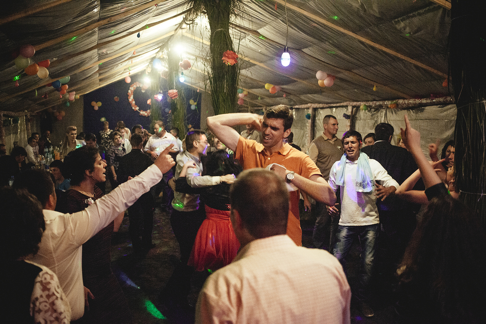 more dancing, at night,  Letea, Romania, 2015