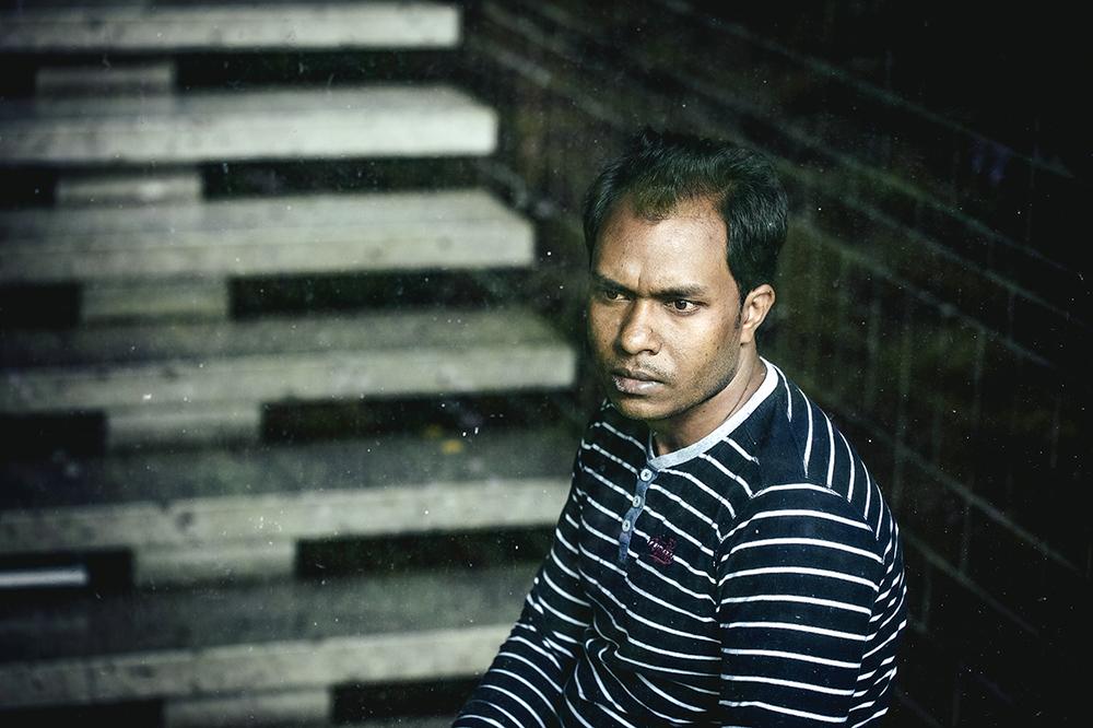 Anwar, from Myanmar, during his time in church asylum, Hausham, Germany, 2015