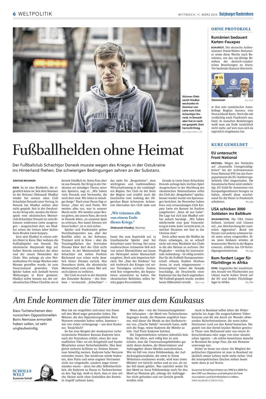 Salzburger Nachrichten (Fußball), 11. März 2015