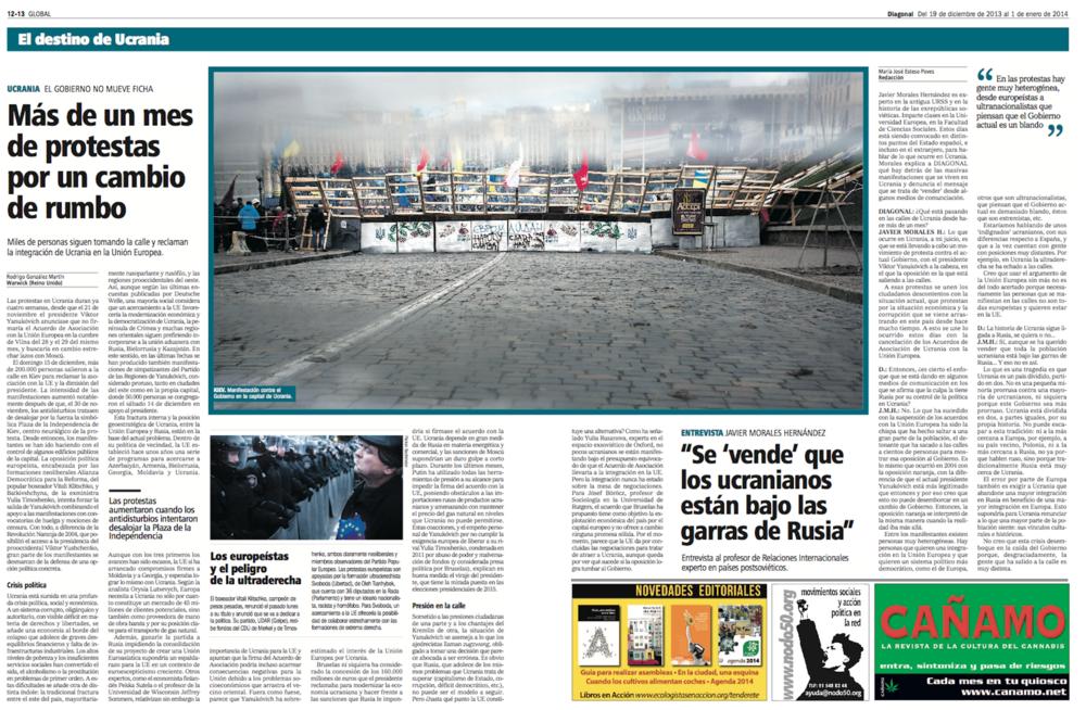 Diagonal, Dezember 2013 / Januar 2014
