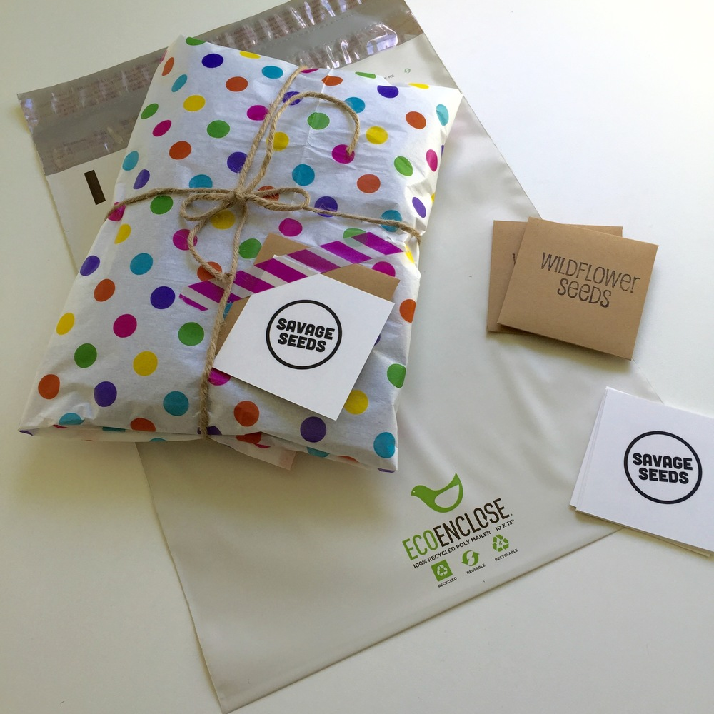 All of our orders are gift ready & shipped in Earth Friendly - 100% Biodegradable, made in the USA, Poly Mailers.