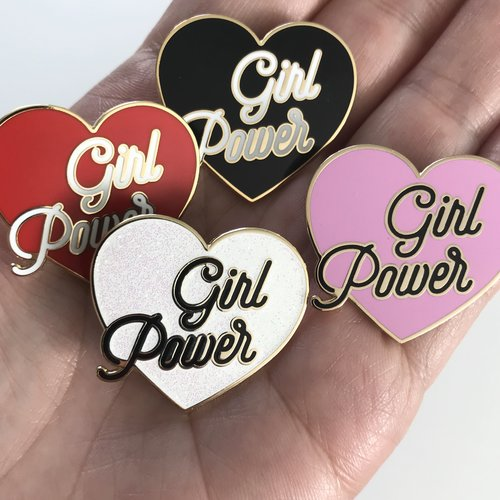f26ad4573a44 SECONDS SALE - GIRL POWER Hard Enamel Pins - Red