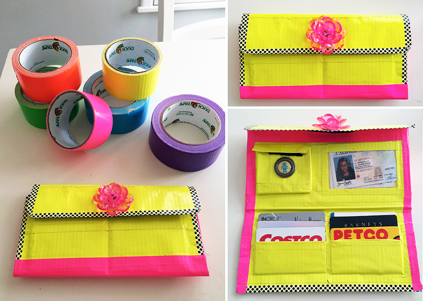 neon duct tape wallet