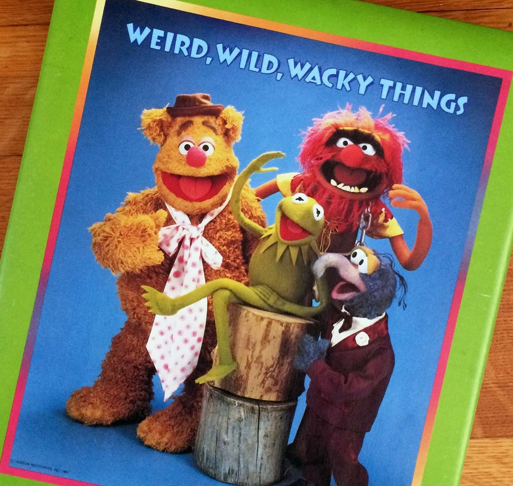 My childhood scrapbook. The Muppets.
