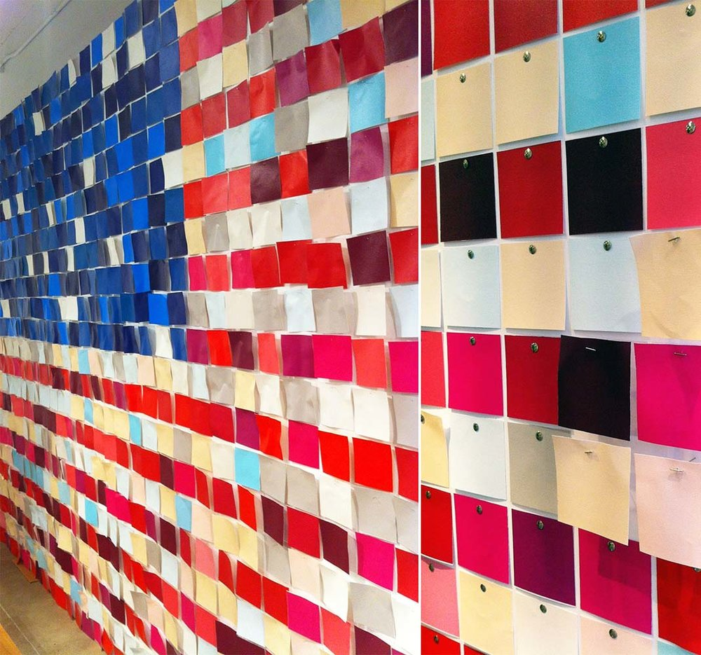 Old Navy New York Product Showroom American Flag Swatch Installation