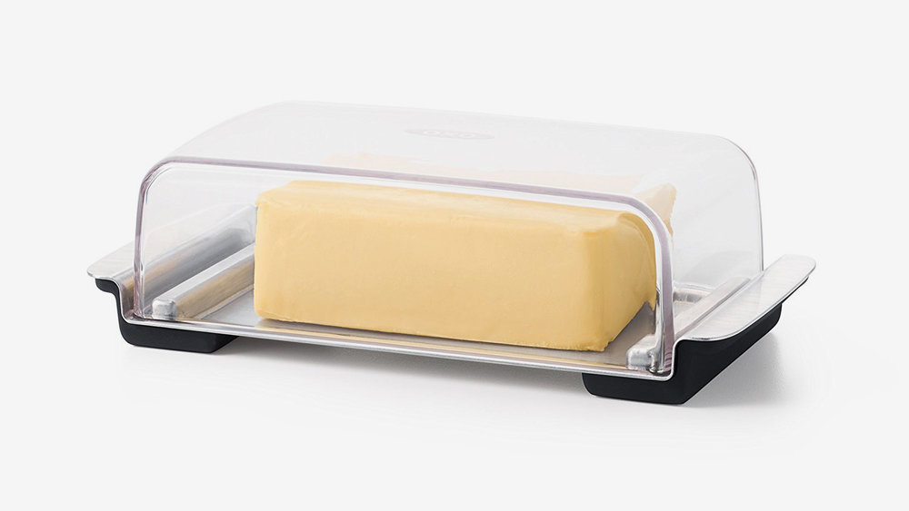 *OXO Butter Dish, Stainless Steel/Clear