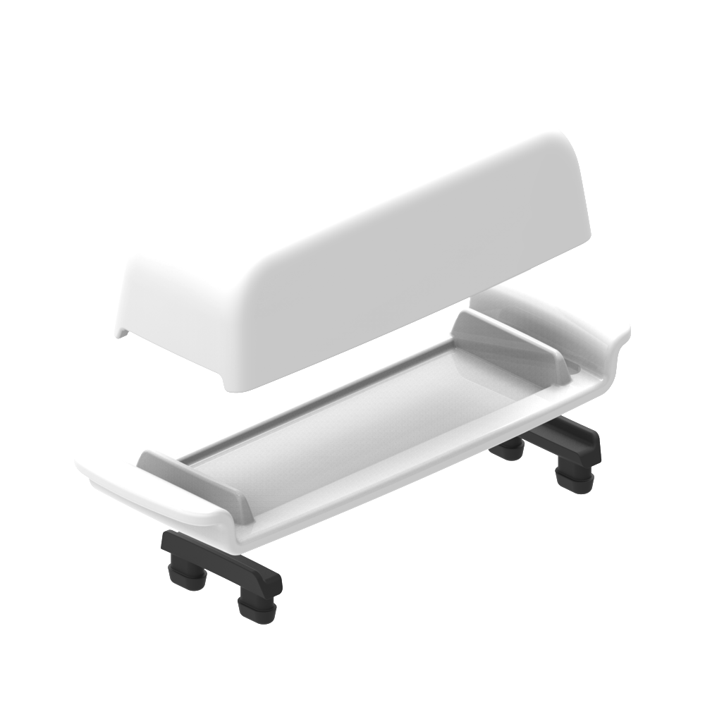 * OXO Ceramic Butter Dish, Exploded View