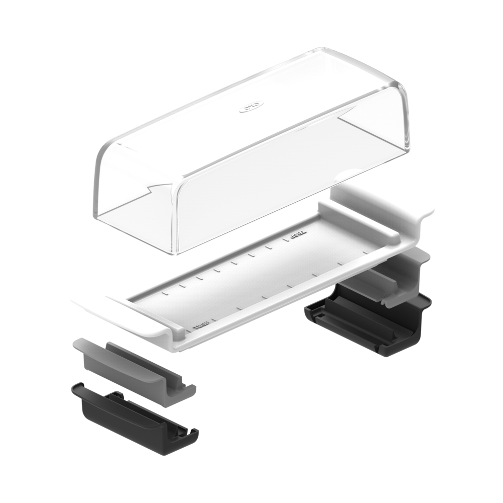 * OXO Plastic/Clear Butter Dish, Exploded View