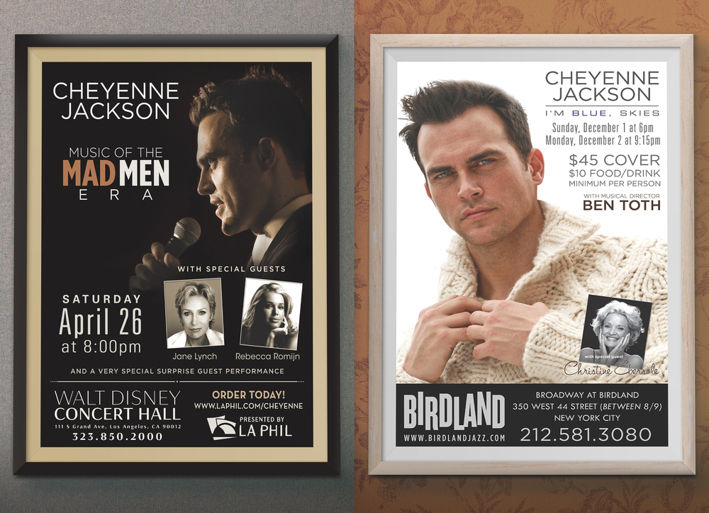 Cheyenne Jackson concert posters