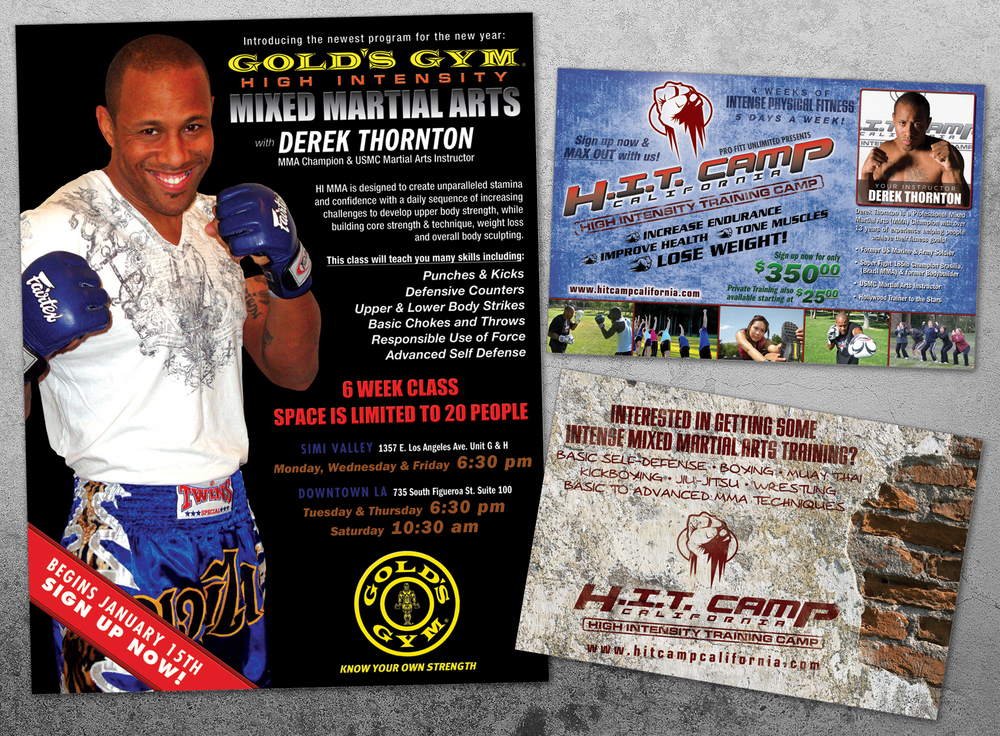 MMA Fighter Derek Thornton Flyer designs