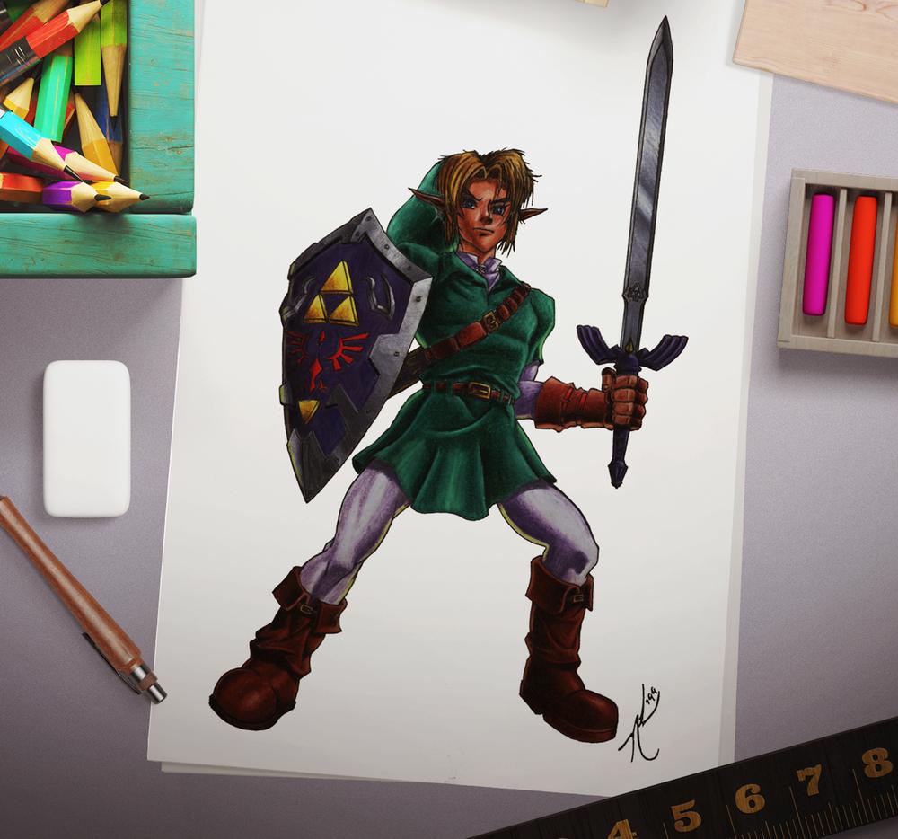"""Link (in Hero Pose)"""