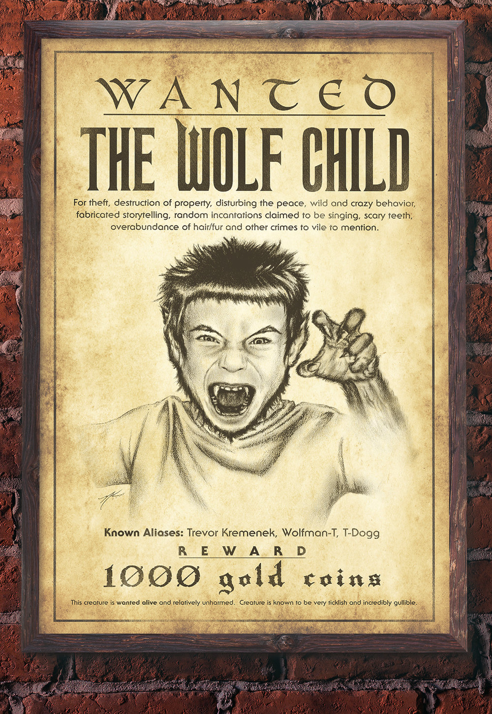 """The Wolf Child"" Wanted Poster"