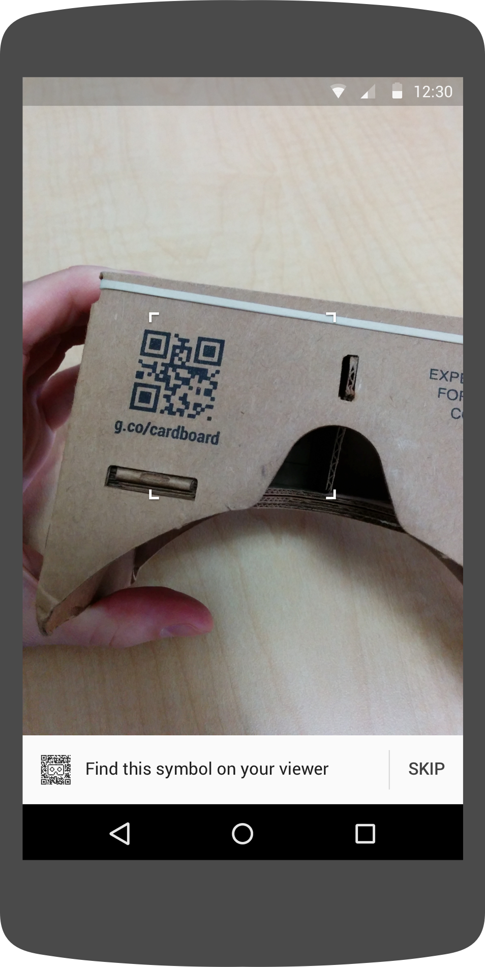 Pairing: Scan the QR code on your viewer
