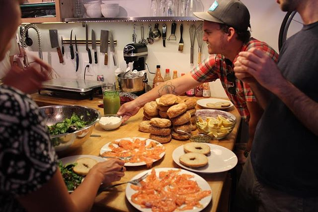 Bagel Brunch at 267 in early 2014! #lox #supperclub #267 #eventspace