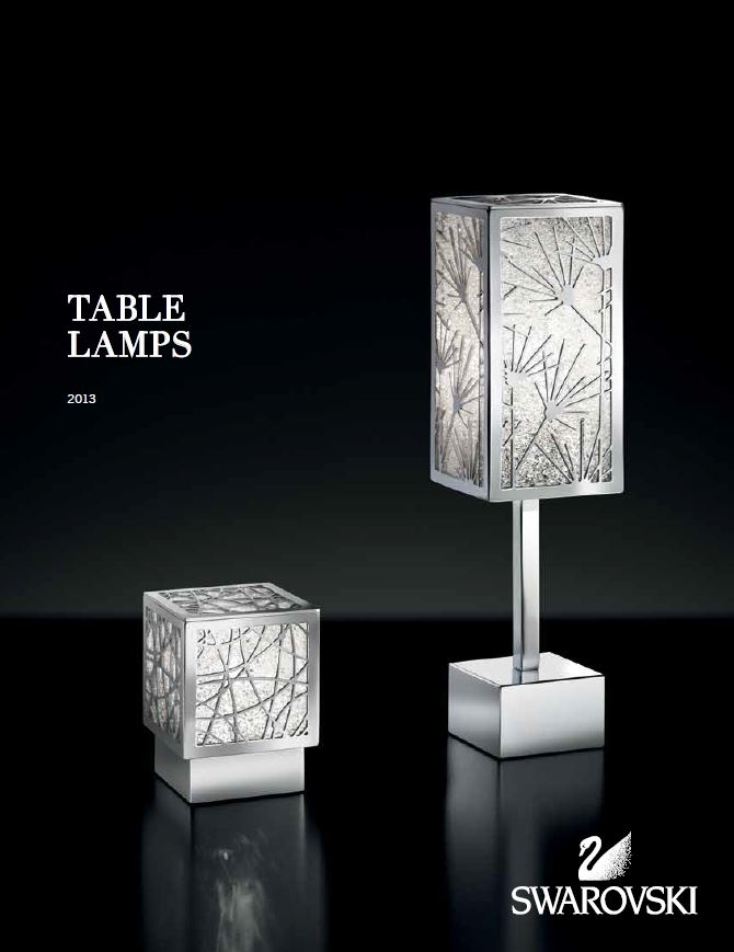 Swarovski Table Lamps 2014