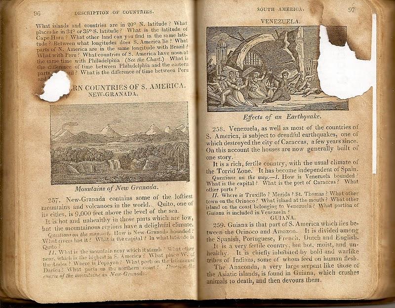 Un libro de geografía del año 1825,  escaneado para la posteridad .