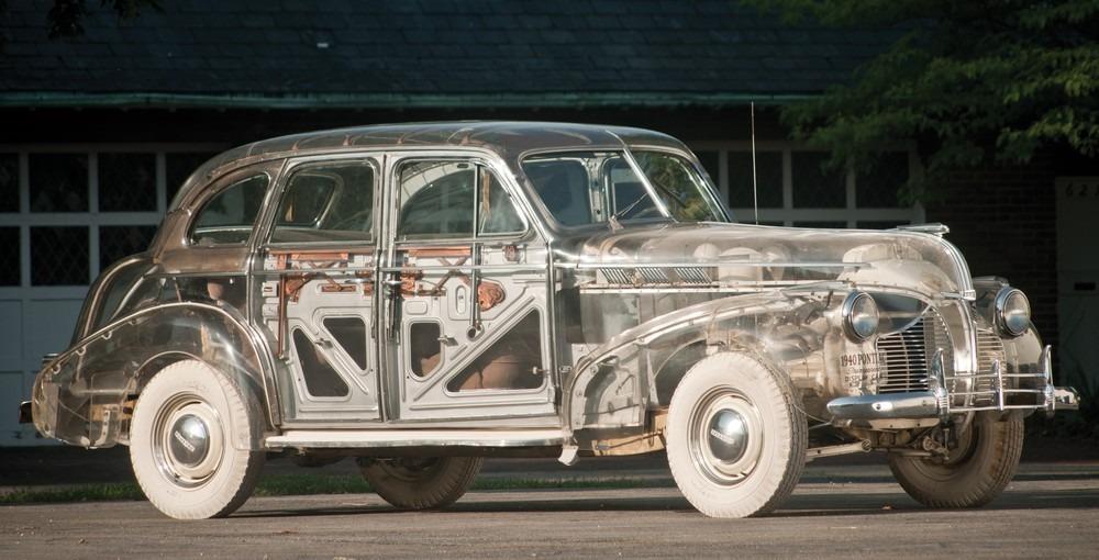 Un Pontiac transparente, creado por General Motors para la Feria Mundial de New York de 1939/1940.