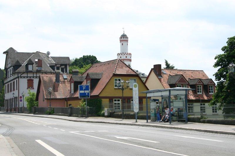 Una típica callecita en Bad Homburg