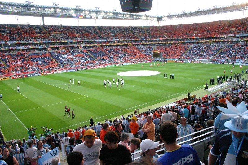 Vista panorámica de futuras víctimas, previa al comienzo del match