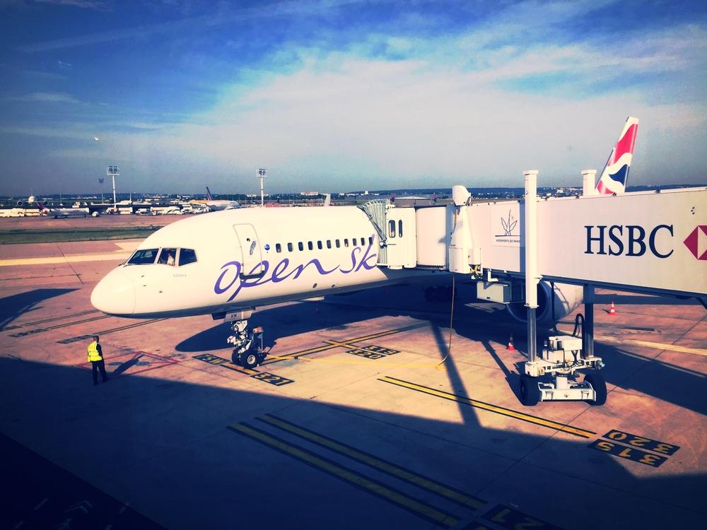 Flight review open skies biz bed business class newark for New york to paris flights