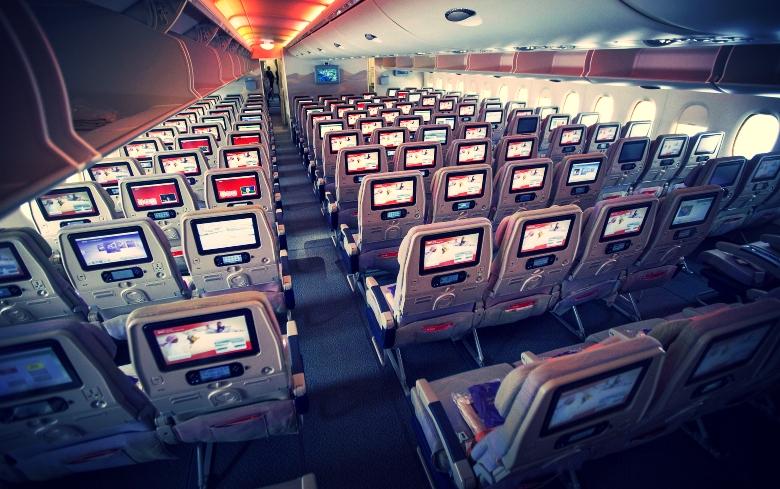 Seats Inside An Airplane