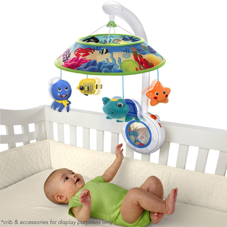 bell box agptek rotating for bedding bracket operated cribs battery ip com mobiles mobile holder musical crib bed arm walmart baby