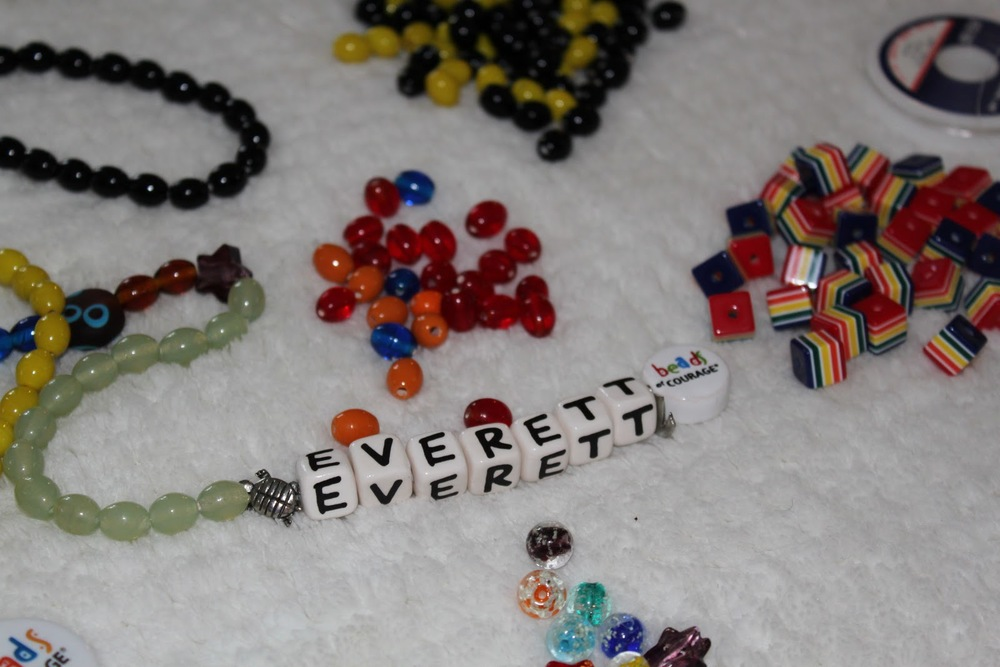 Beads of courage NICU necklace for Everett