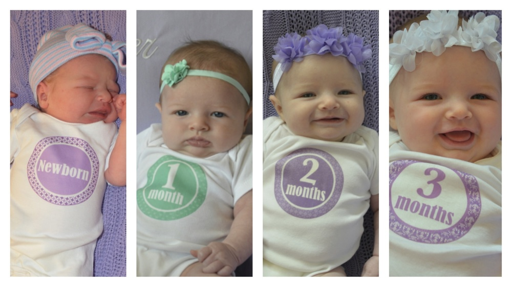 preemies in one month two month three month four month onesies