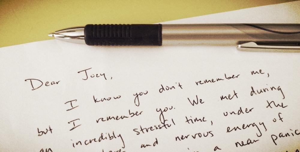 Dear Joey Letter