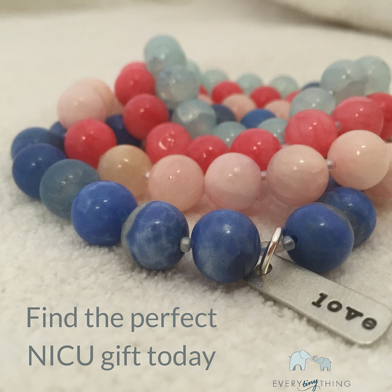Find beautiful NICU prayer bracelets like these here at Every Tiny Thing