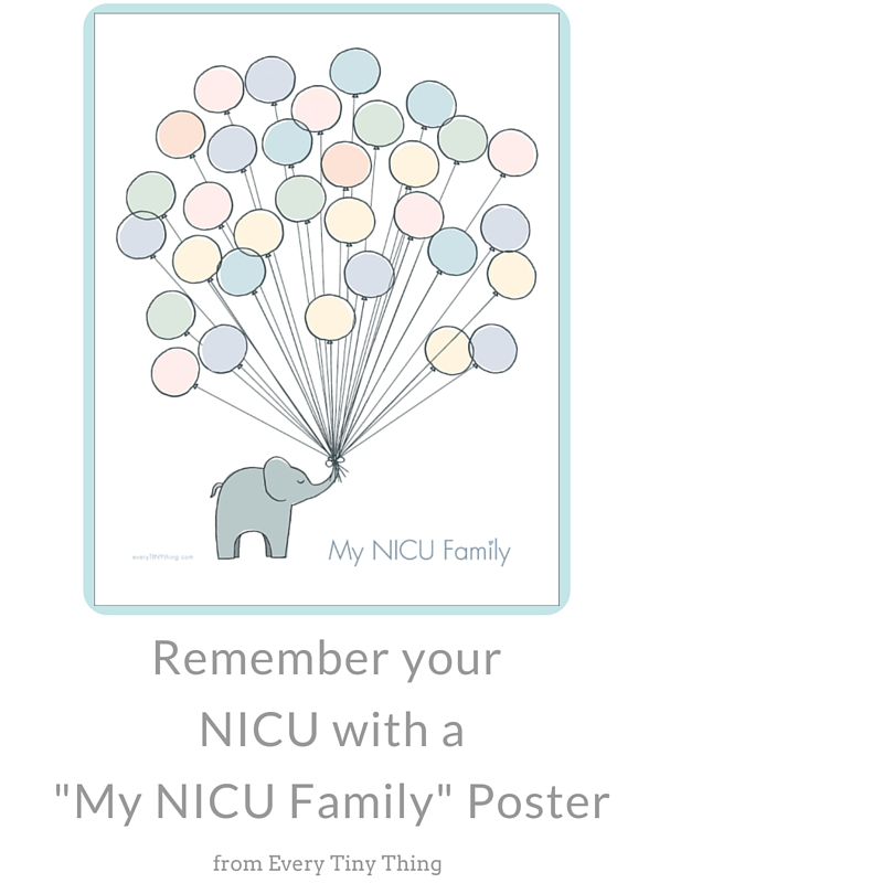 Find perfect preemie mom gift like this NICU poster at Every Tiny Thing
