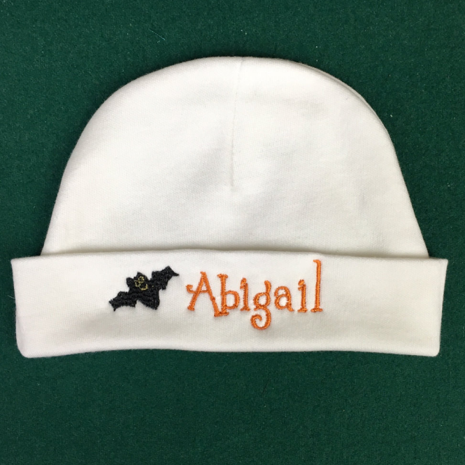 personalized halloween micro-preemie hat