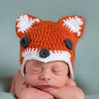 preemie fox hat