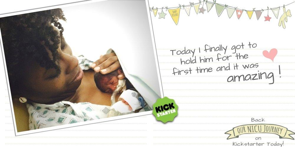 Kickstarter Preemie Journal Our NICU Journey Twitter First Hold