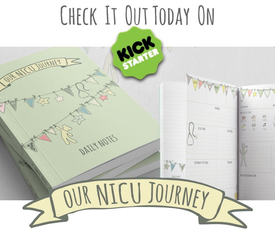 our nicu journey journal kickstarter back today.jpg