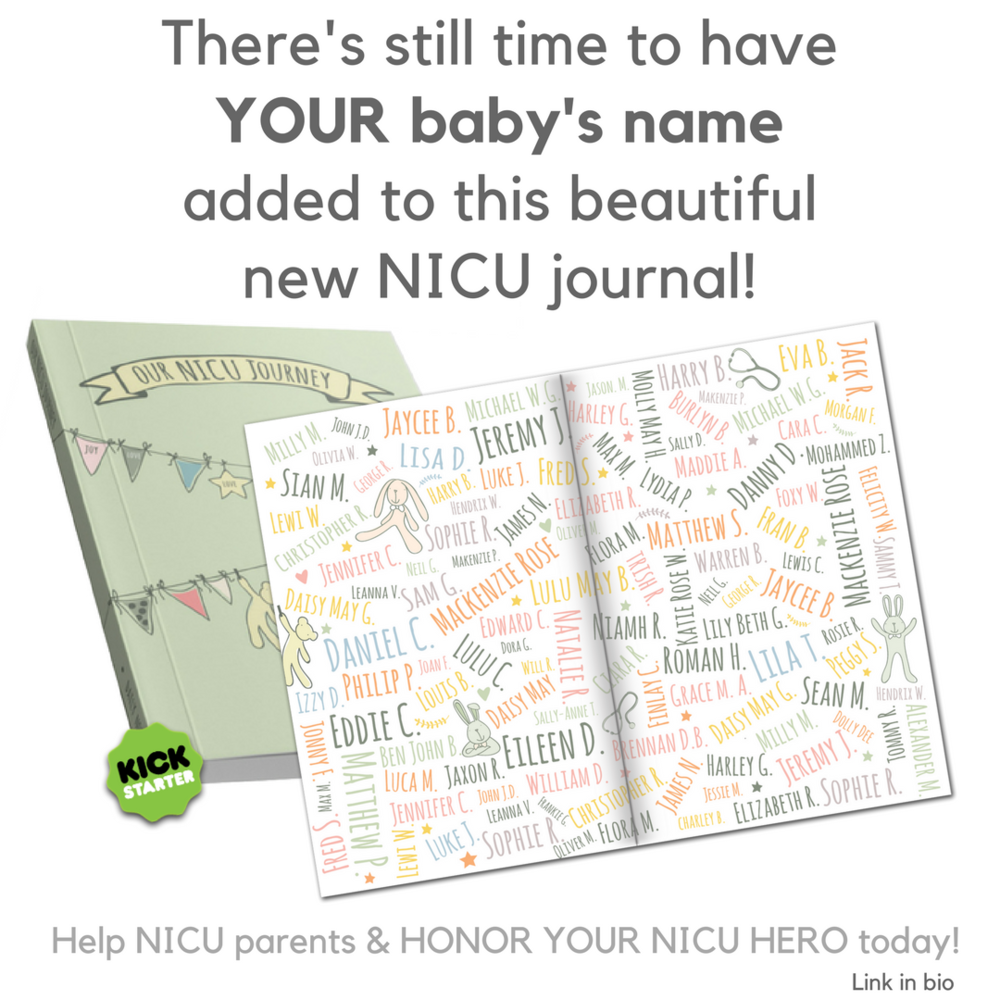 preemie journal & NICU journal Our NICU Journey