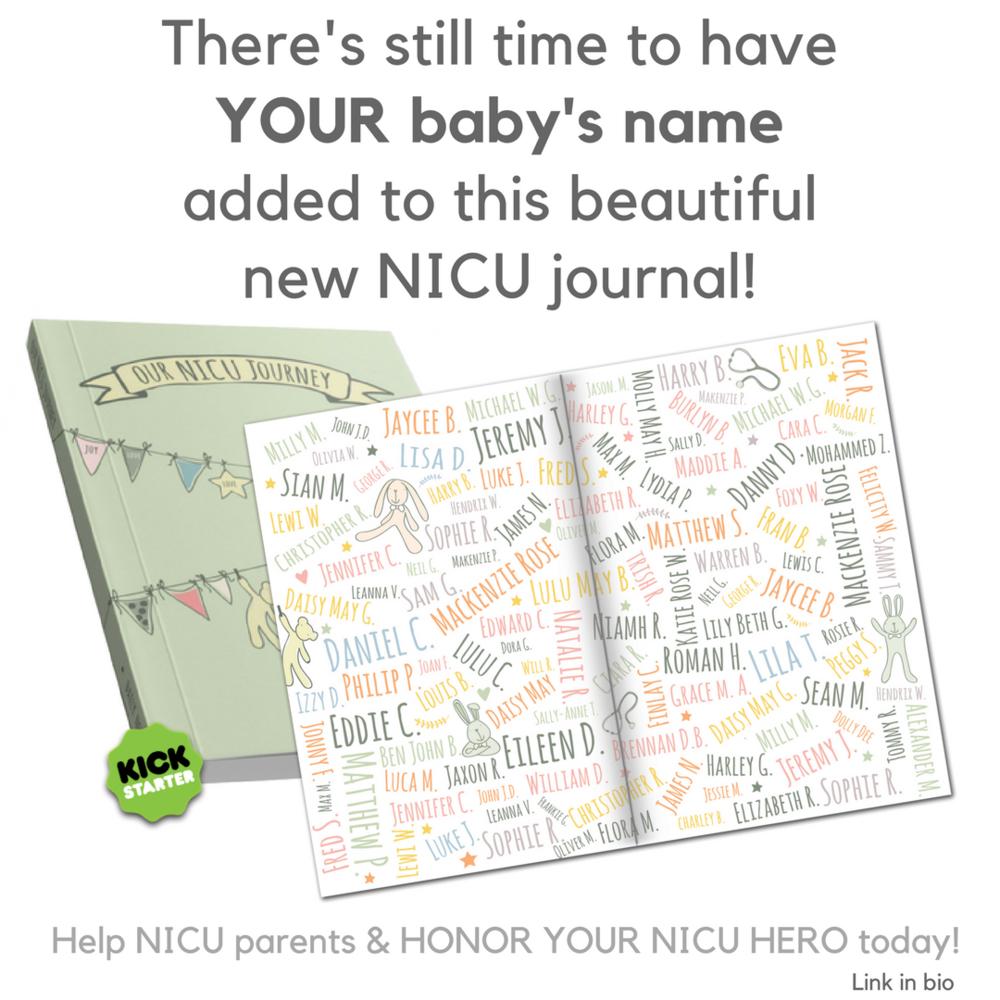 preemie journal & NICU journal Our NICU Journey