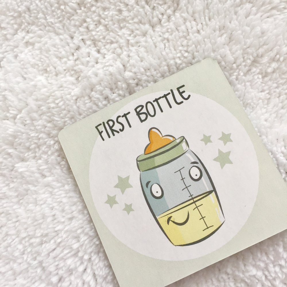 first bottle nicu milestone card