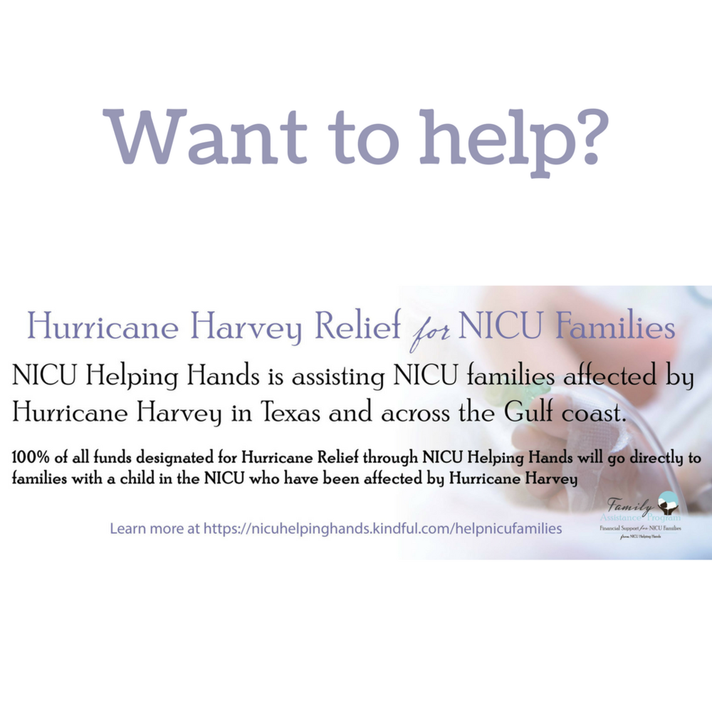 hurricane relief from nicu helping hands
