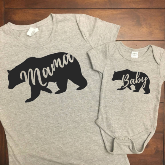 NICU mom and NICU baby matching tshirts
