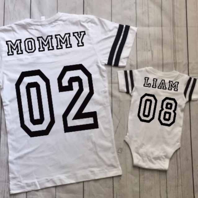 mommy and baby matching team jerseys for christmas nicu gift
