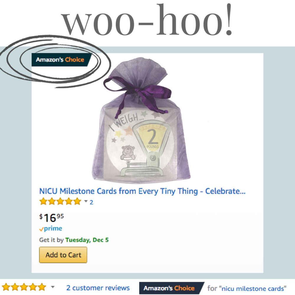 Amazon's #1 choice for NICU milestone cards