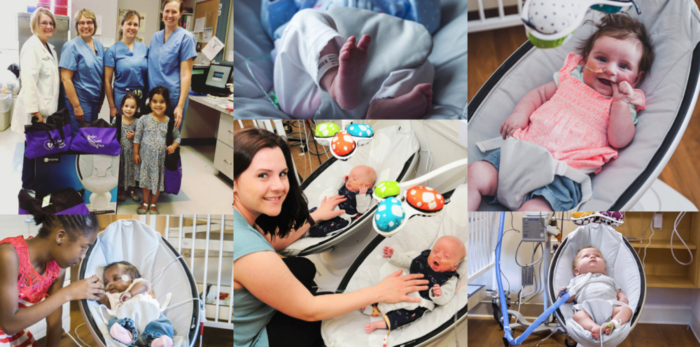 mamaroo swings in the NICU  Photo Credit: 4Moms