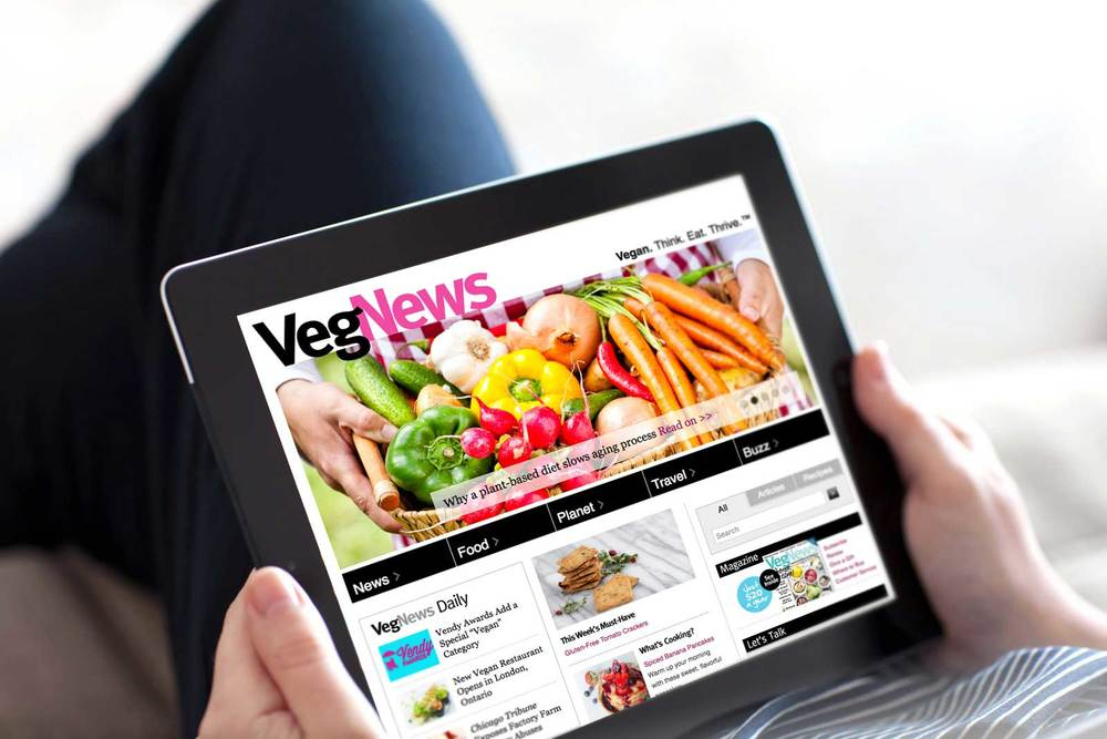 VegNews website, designed by Good Stuff Partners, wins top honors at the 65th Annual Maggie Awards