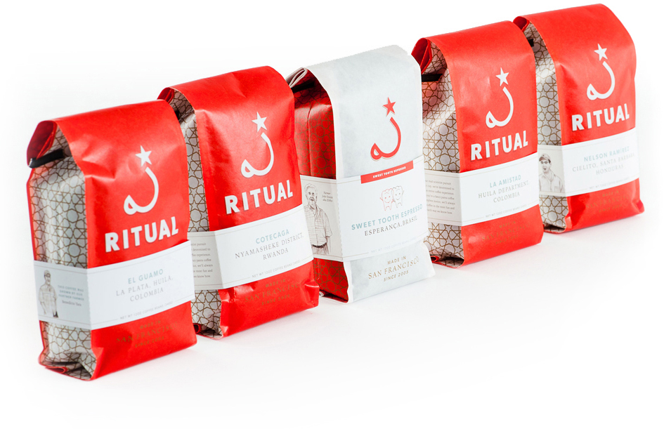 Good Stuff Partners, a SF Branding Agency, wins an award of excellence for Ritual Coffee packaging design.