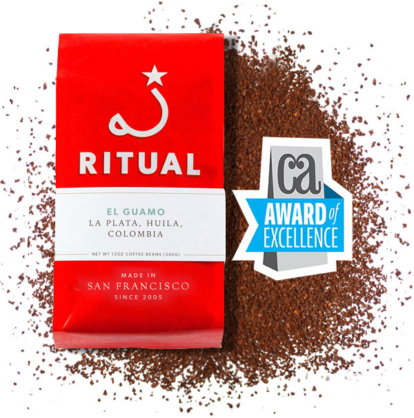 San Francisco branding agency, Good Stuff Partners, receives award of excellence for Ritual Coffee packaging redesign in CommArt's exclusive design competition.